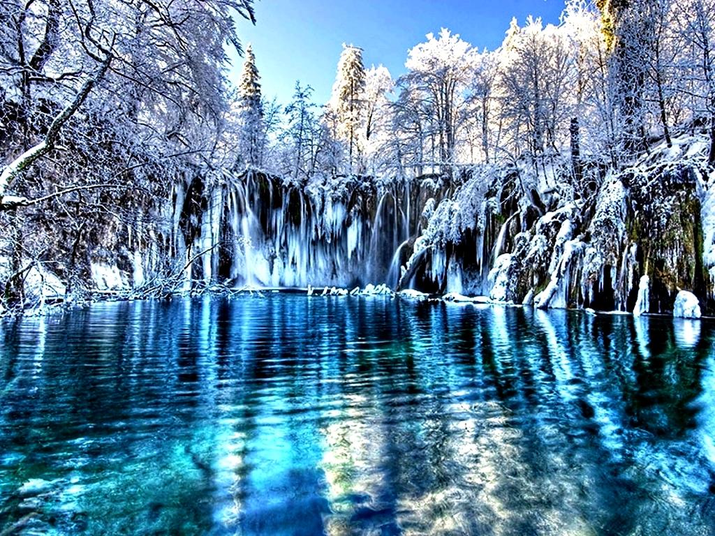 плитвицкие озера в снегу