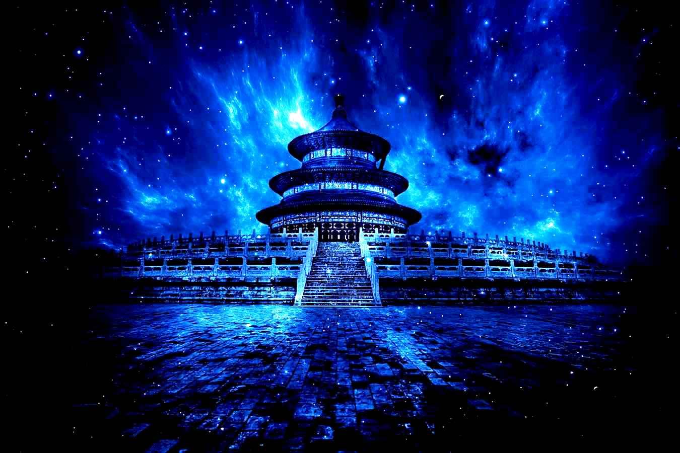 храм неба, фотоколлаж