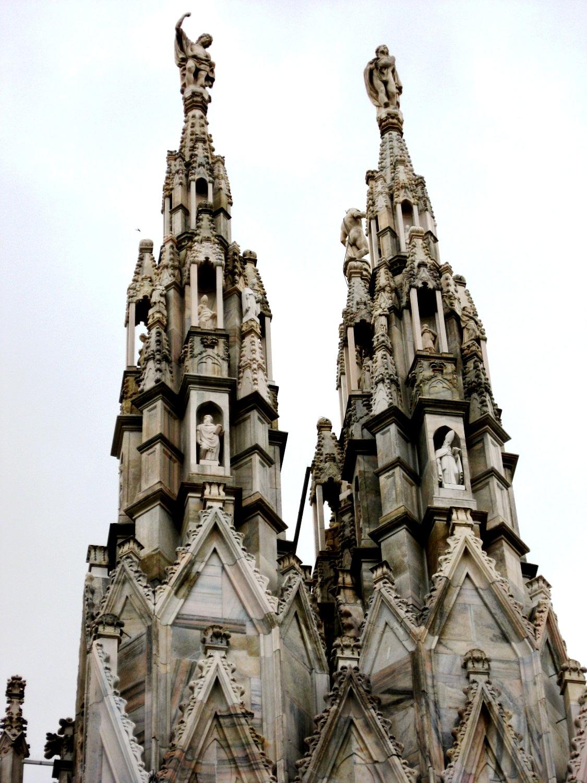 шпили миланского собора