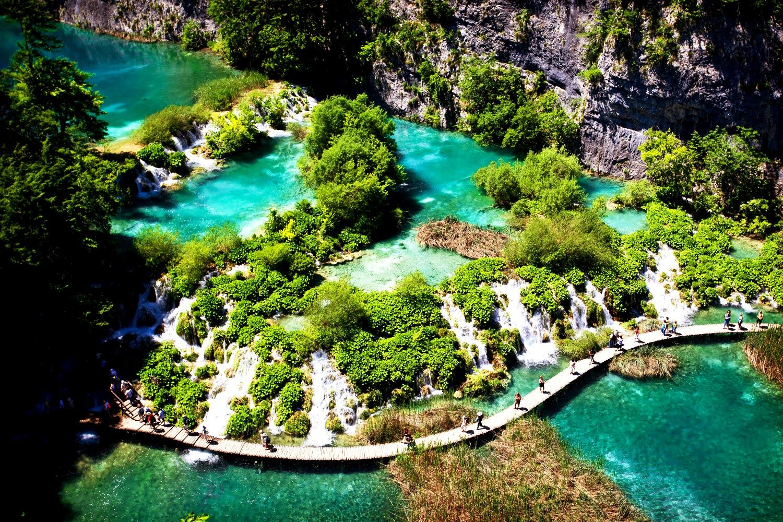 ландшафт плитвицких озер