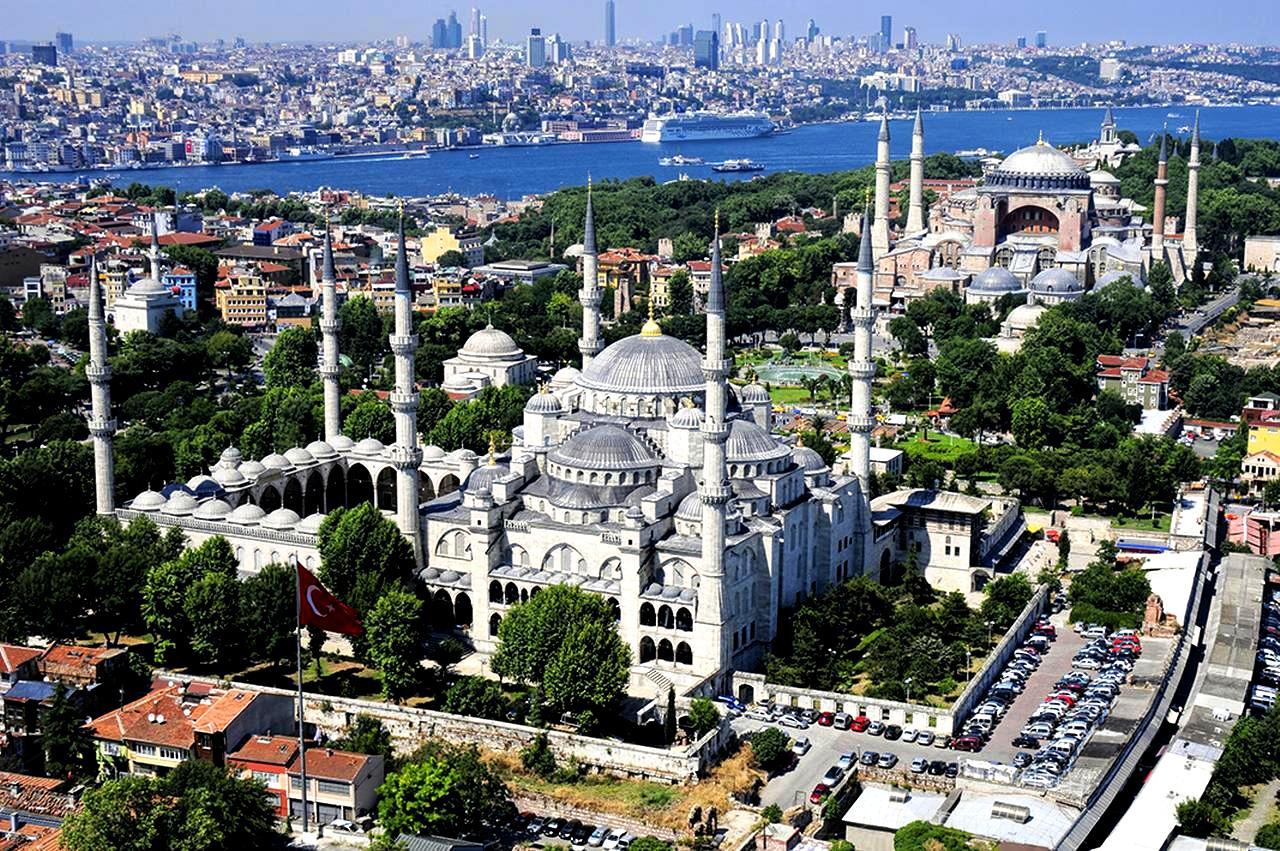 панорама голубой мечети