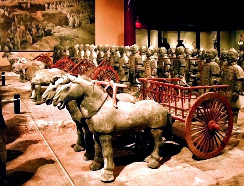 глиняные колесницы