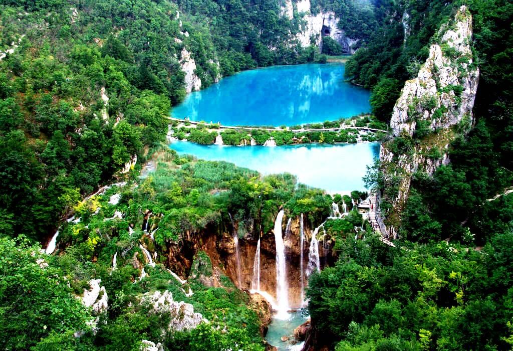 пейзаж плитвицких озер