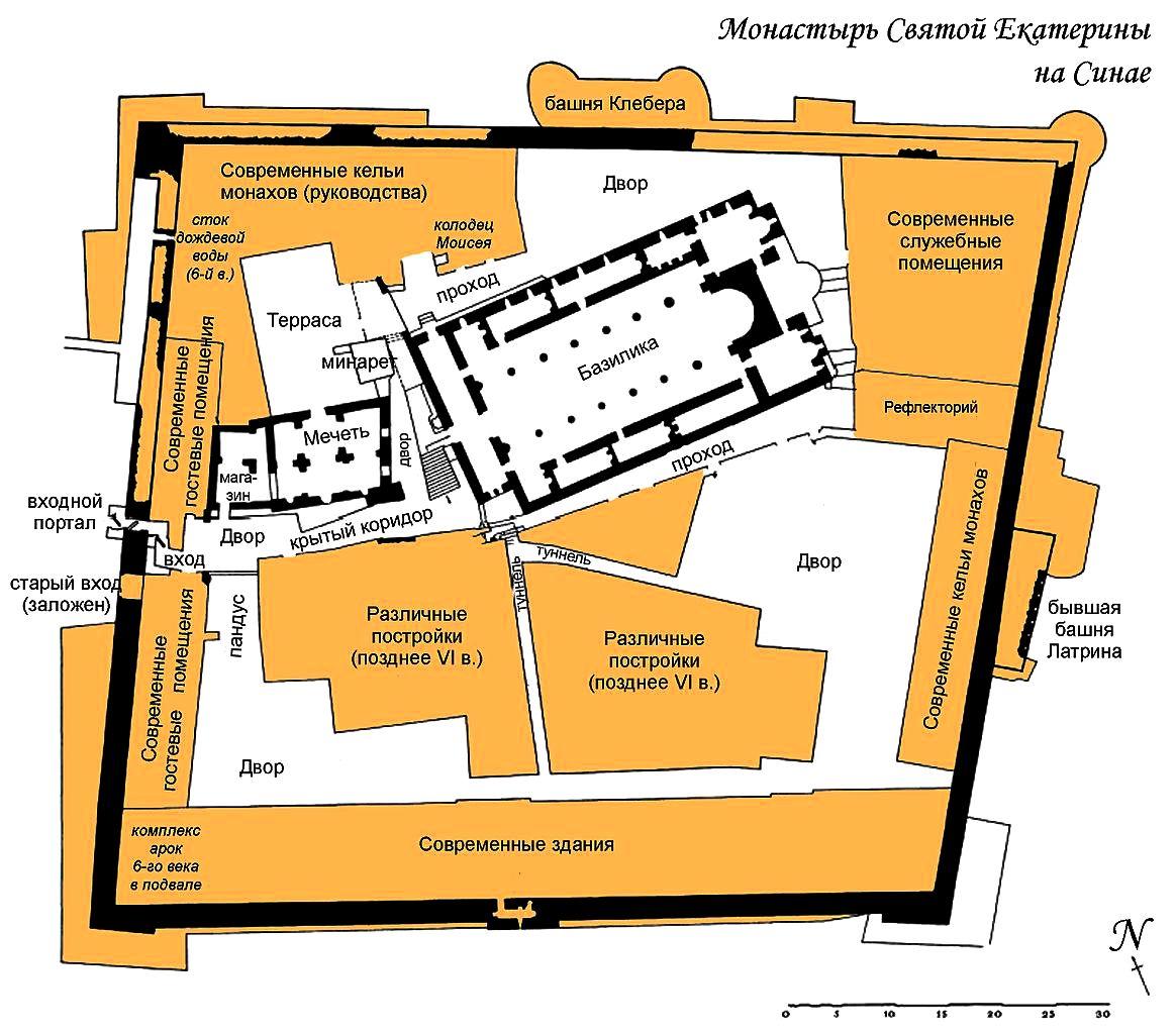 карта синайского монастыря