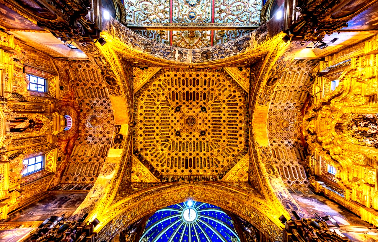 потолок церкви сан-франсиско
