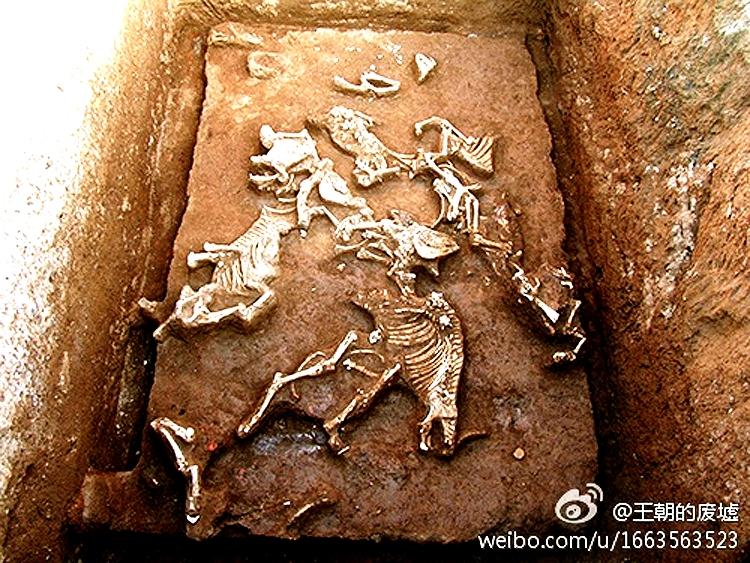 останки в гробнице императора