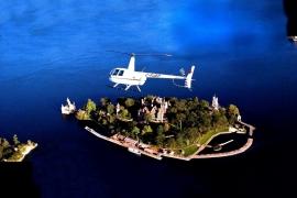 вертолет над замком Болдт
