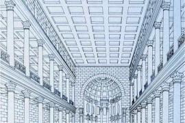 схема зала, Лептис Магна