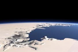 Сухие долины, вид из космоса