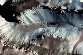 марсианский пейзаж Сухих долин