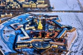 Петропавловская крепость зимой