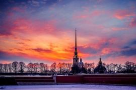 краски Петропавловской крепости
