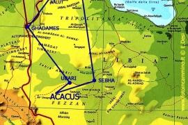 карта мест Ливии