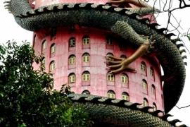 дракон, обвитый вокруг дома