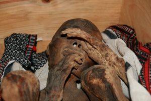 мумия лежит