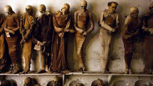 скелеты на стене