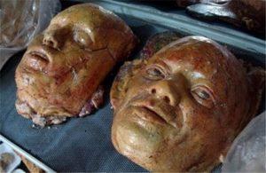 головы из хлеба