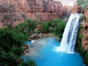 вид на водопад хавасу