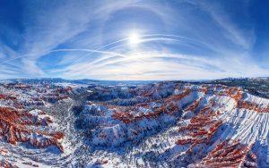 космический пейзаж каньона Брайс