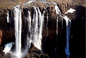 группа водопадов путорана