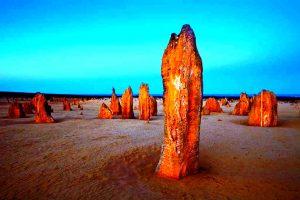 пустыня пиннаклс ночью