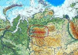 карта плато путорана